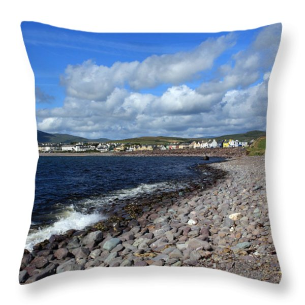 Village By The Sea - County Kerry - Ireland Throw Pillow by Aidan Moran