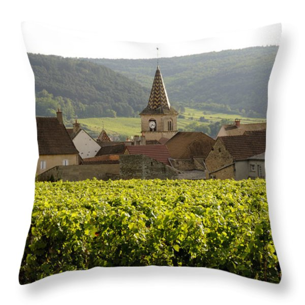 Village of Monthelie. Burgundy. France Throw Pillow by BERNARD JAUBERT