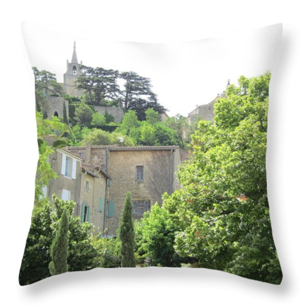 Village View Throw Pillow by Pema Hou