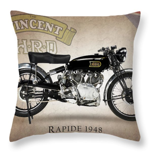 Vincent Hrd Rapide Throw Pillow by Mark Rogan