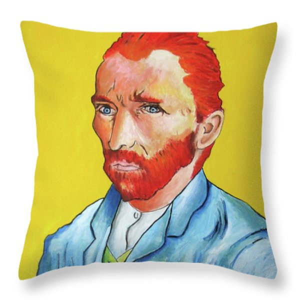 Vincent Van Gogh Throw Pillow by Venus