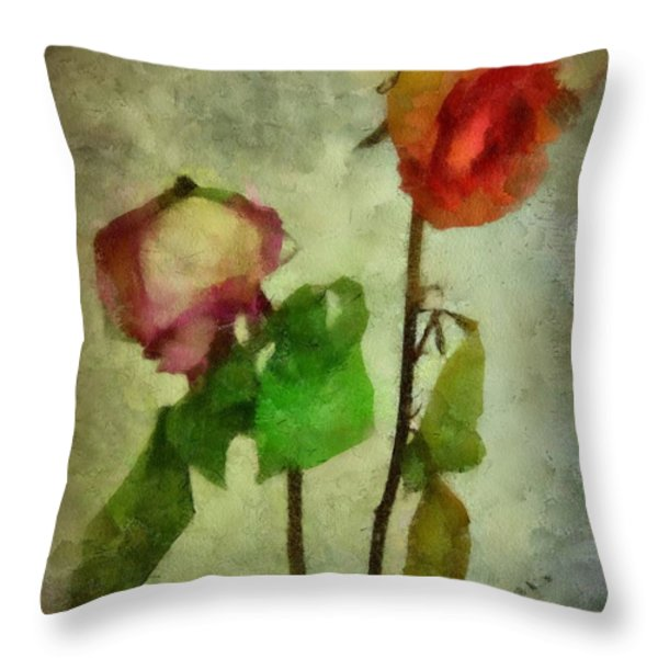 Vintage Beauties Throw Pillow by Patricia Strand
