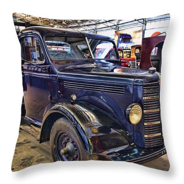 Vintage Bedford  Pickup Truck Throw Pillow by Douglas Barnard