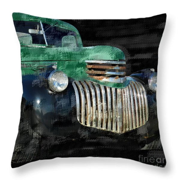 Vintage Chevrolet Pickup 1 Throw Pillow by Betty LaRue