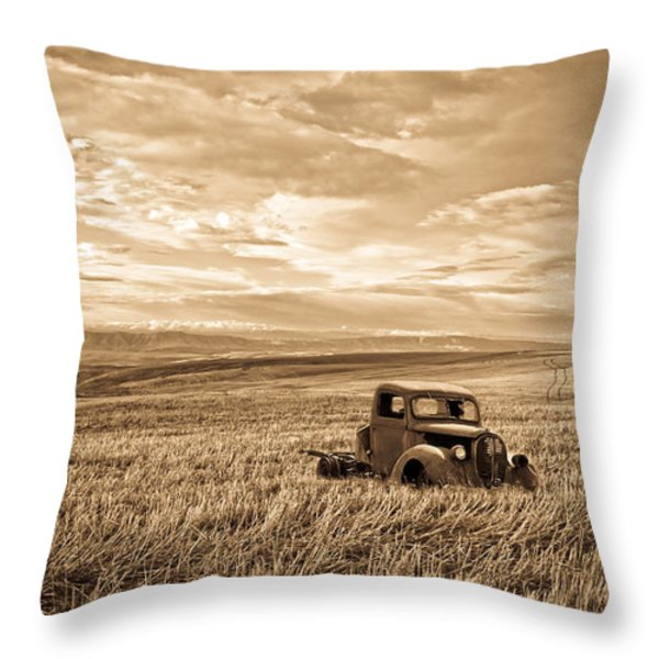 Vintage Days Gone By Throw Pillow by Steve McKinzie