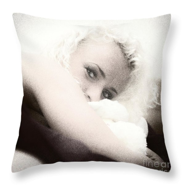vintage eyes Throw Pillow by Stylianos Kleanthous