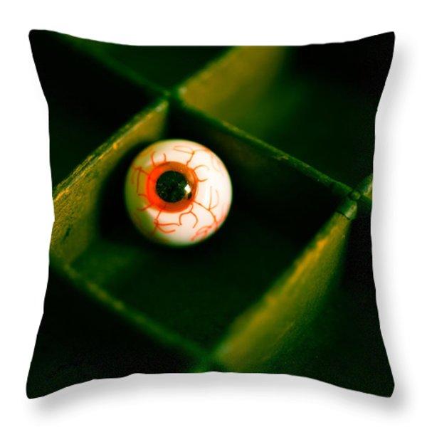 Vintage Fake Eyeball Throw Pillow by Edward Fielding