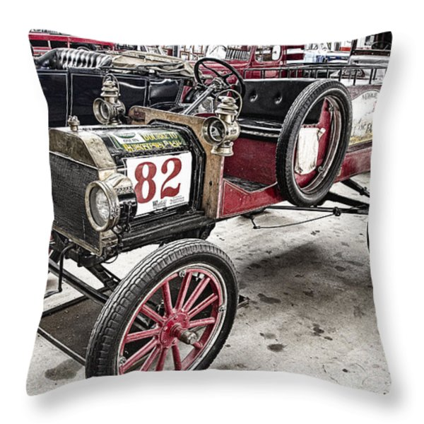 Vintage Ford Pickup Truck Throw Pillow by Douglas Barnard