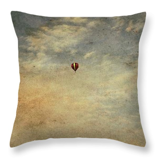 Vintage Hot Air Balloons Throw Pillow by Dan Sproul