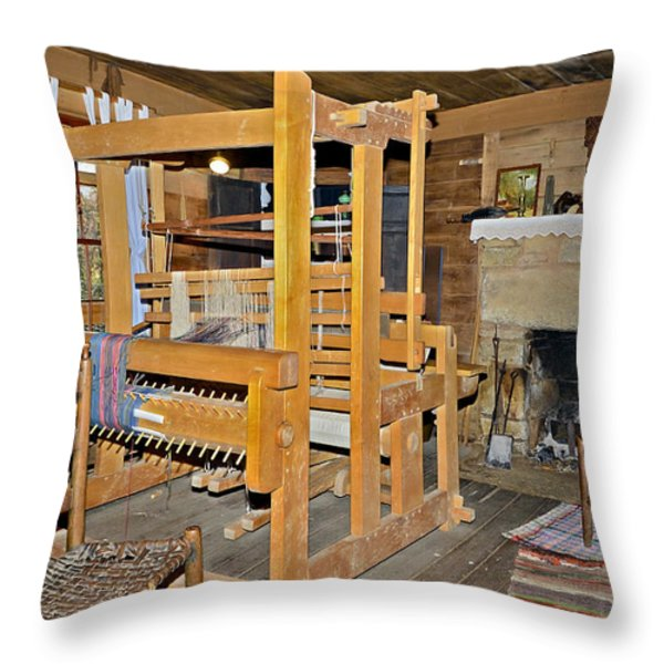 Vintage Interior Throw Pillow by Susan Leggett