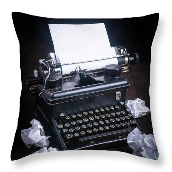 Vintage Manual Typewriter Throw Pillow by Edward Fielding