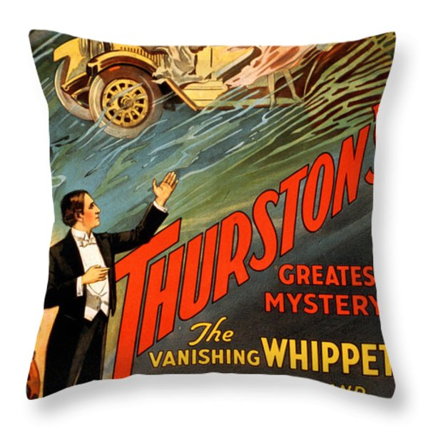 Vintage Nostalgic Poster - 8034 Throw Pillow by Wingsdomain Art and Photography