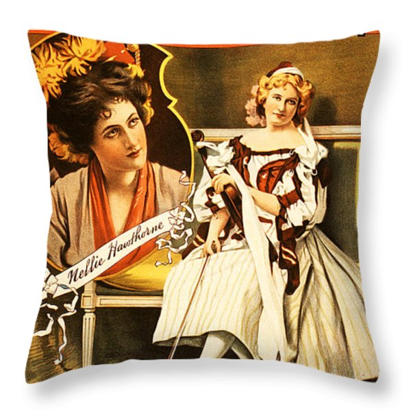 Vintage Nostalgic Poster - 8035 Throw Pillow by Wingsdomain Art and Photography