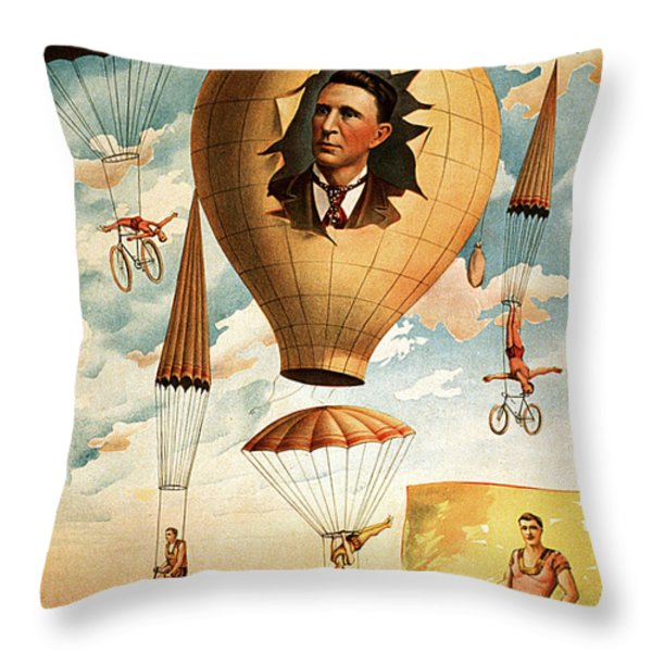Vintage Nostalgic Poster - 8036 Throw Pillow by Wingsdomain Art and Photography
