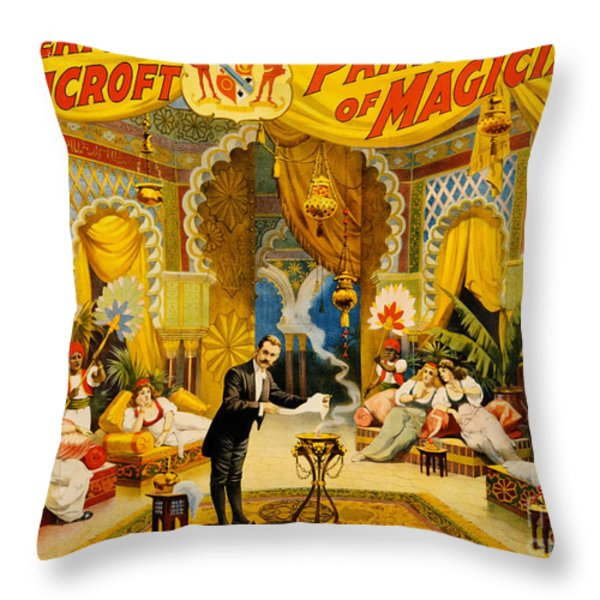 Vintage Nostalgic Poster - 8039 Throw Pillow by Wingsdomain Art and Photography