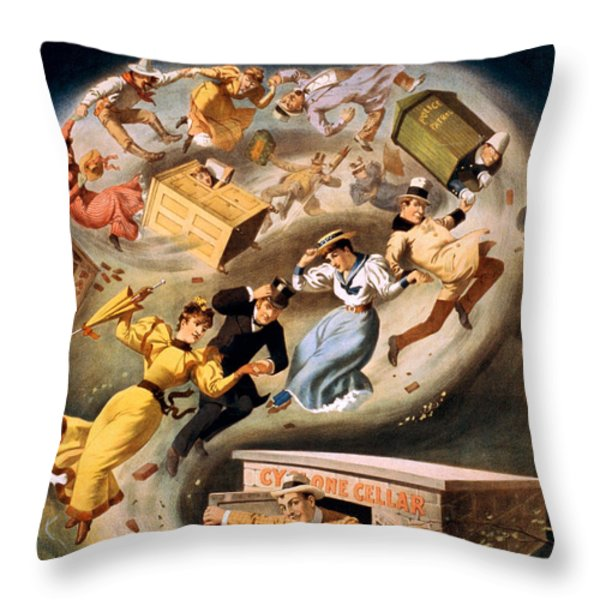 Vintage Nostalgic Poster - 8040 Throw Pillow by Wingsdomain Art and Photography