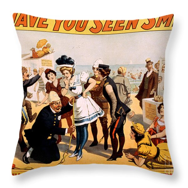Vintage Nostalgic Poster - 8046 Throw Pillow by Wingsdomain Art and Photography