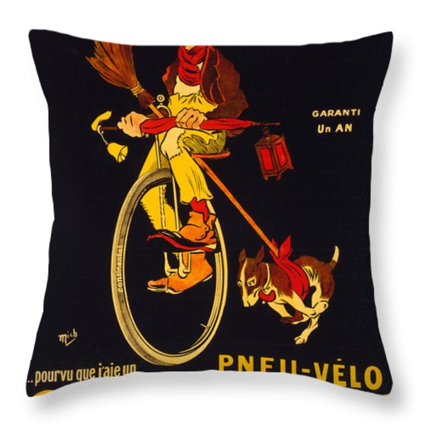 Vintage Nostalgic Poster - 8048 Throw Pillow by Wingsdomain Art and Photography