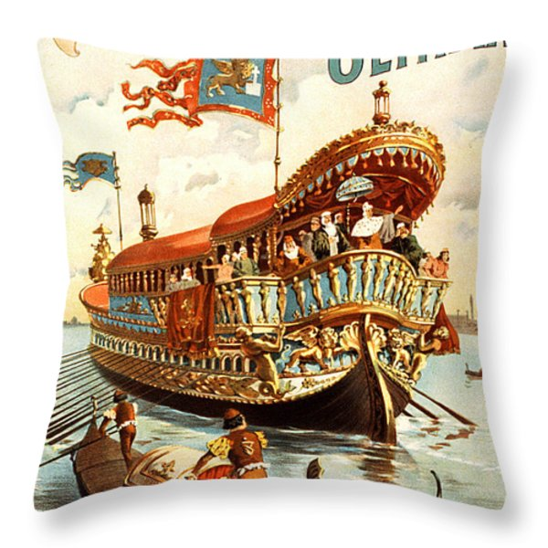 Vintage Nostalgic Poster - 8050 Throw Pillow by Wingsdomain Art and Photography