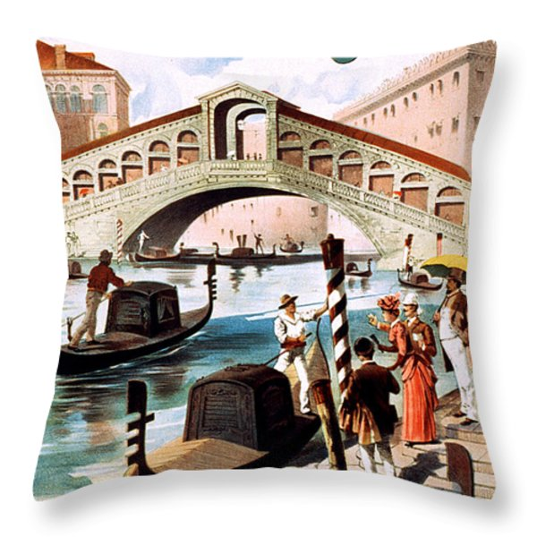 Vintage Nostalgic Poster - 8052 Throw Pillow by Wingsdomain Art and Photography