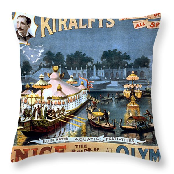 Vintage Nostalgic Poster - 8056 Throw Pillow by Wingsdomain Art and Photography