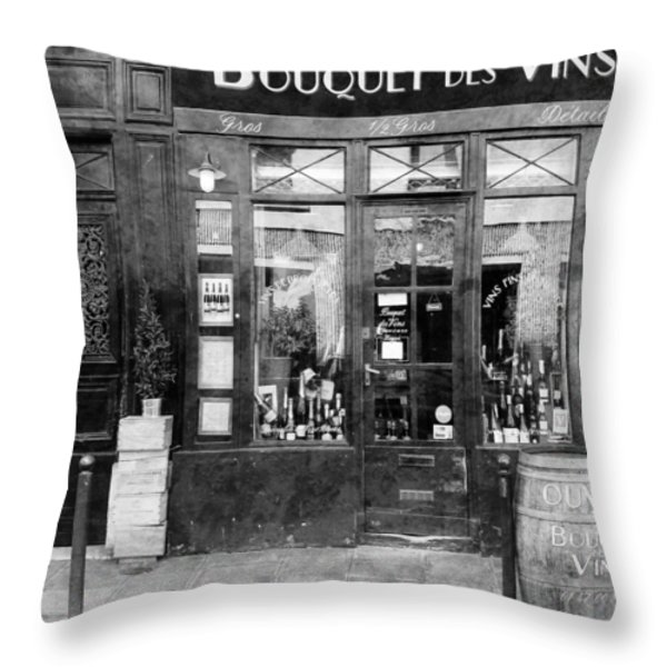 Vintage Paris 11c Throw Pillow by Andrew Fare