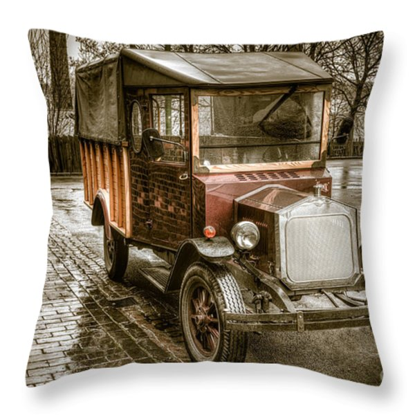Vintage Replica Throw Pillow by Adrian Evans