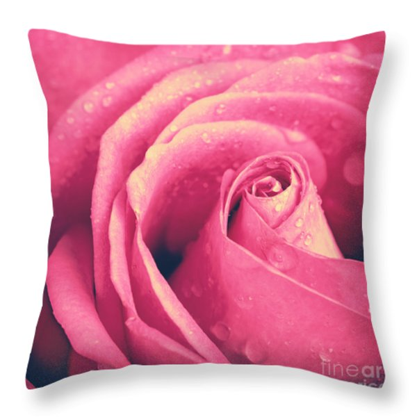 Vintage Rose Photo Throw Pillow by Jane Rix