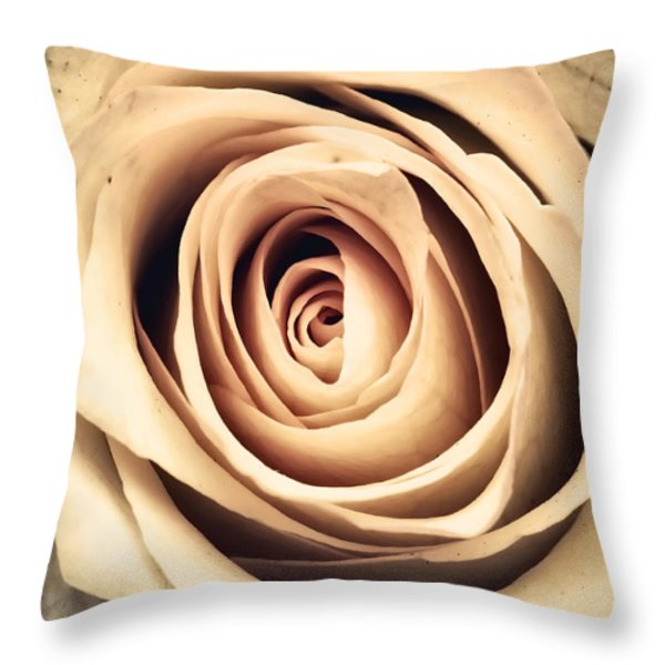 Vintage Rose Throw Pillow by Wim Lanclus