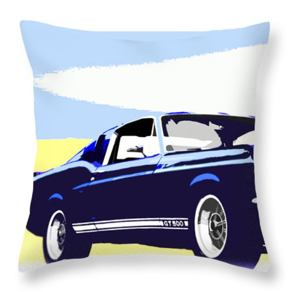 Vintage Shelby Gt500 Throw Pillow by Bob Orsillo