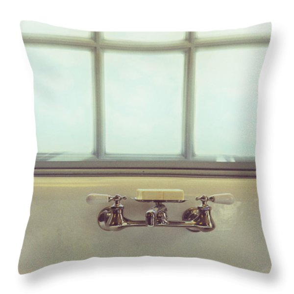 Vintage Soap Throw Pillow by Margie Hurwich