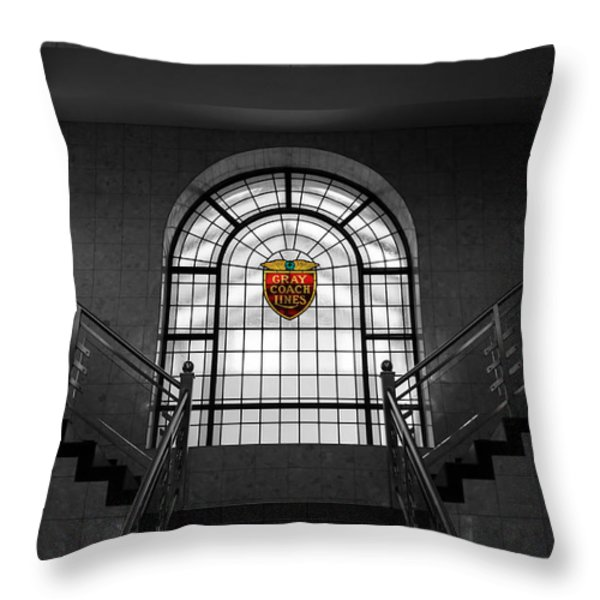 Vintage Stained Glass 2 Throw Pillow by Andrew Fare