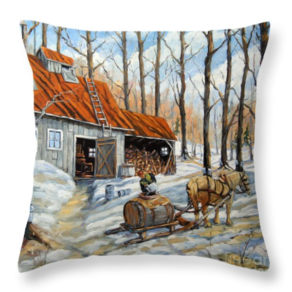 Vintage Sugar Shack By Prankearts Throw Pillow by Richard T Pranke