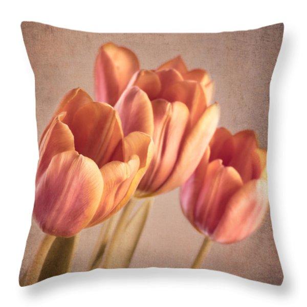 Vintage Tulips Throw Pillow by Wim Lanclus
