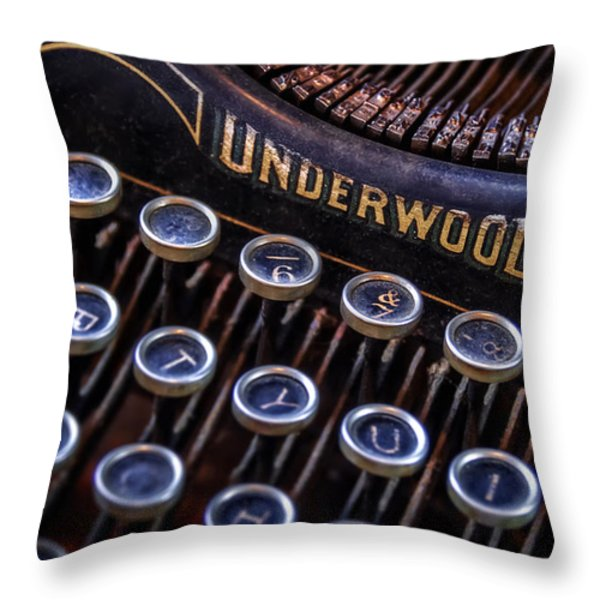 Vintage Typewriter 2 Throw Pillow by Scott Norris