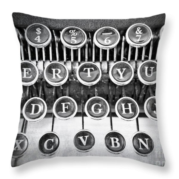 Vintage Typewriter Throw Pillow by Edward Fielding