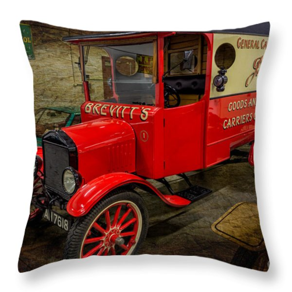 Vintage Van Throw Pillow by Adrian Evans