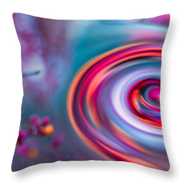 Violet Fall Blossom Collage Throw Pillow by Hannes Cmarits