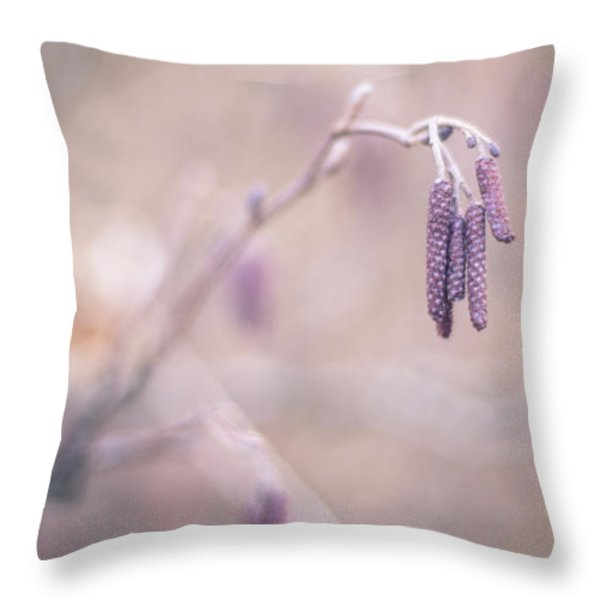 Violet Hazel  Throw Pillow by Hannes Cmarits