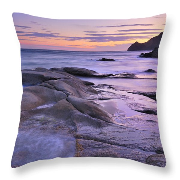 Violet Place Throw Pillow by Guido Montanes Castillo