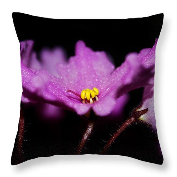 Violet Prayers Throw Pillow by Lisa Knechtel