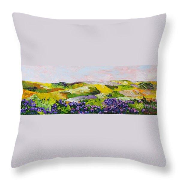 Violet Sunrise Throw Pillow by Allan P Friedlander