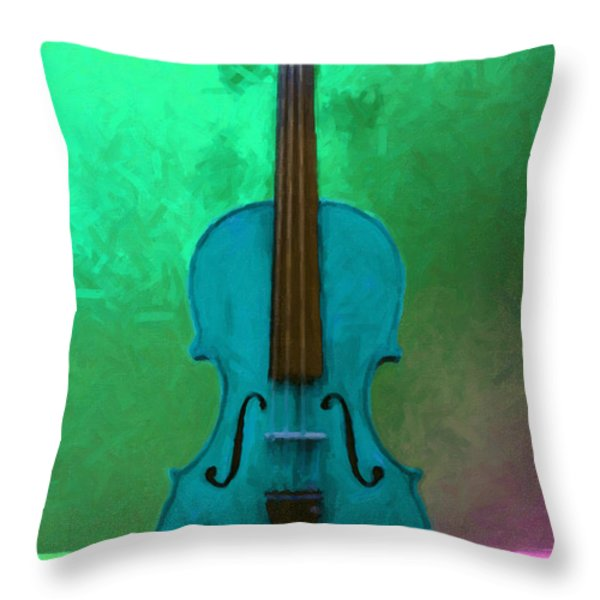 Violin - 20130111 V2 Throw Pillow by Wingsdomain Art and Photography