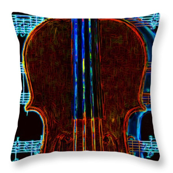 Violin - 20130128v1 Throw Pillow by Wingsdomain Art and Photography