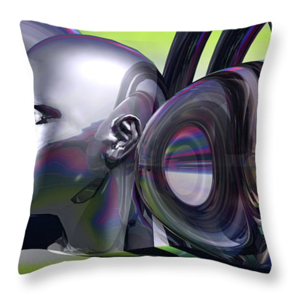 Violins In A Virtual Reality Throw Pillow by Jon D Gemma