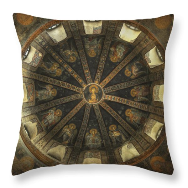 Virgin Mary Cupola Throw Pillow by Taylan Soyturk
