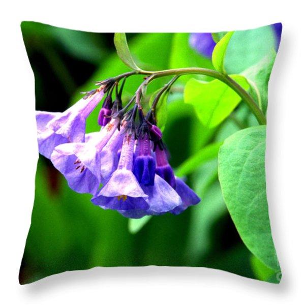 Virginia Bluebell Throw Pillow by Thomas R Fletcher