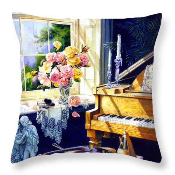 Virginia Waltz Throw Pillow by Hanne Lore Koehler