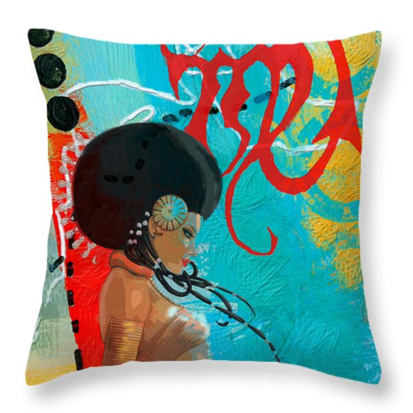 Virgo Throw Pillow by Corporate Art Task Force
