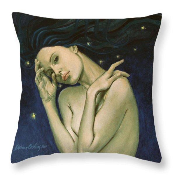 Virgo  From Zodiac Series Throw Pillow by Dorina  Costras